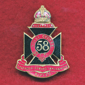 58 INF BN Hat Badge (E-C-B Rifles) (30/42)