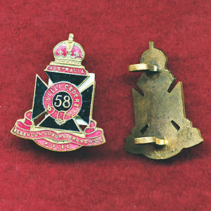 58 INF BN Collar Badge (E-C-B Rifles) (30/42)