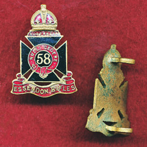 58 INF BN Collar Badge (Essendon Rifles) (30/42)