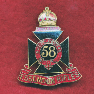 58 INF BN Hat Badge (Essendon Rifles) (30/42)
