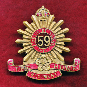 59 INF BN Hat Badge (Hume Regt) (30/42)