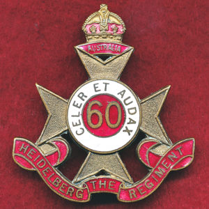 60 INF BN Hat Badge (Heidelberg Regt) (30/42)