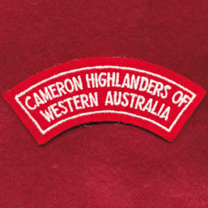Cameron Highlanders of Western Australia Shoulder Title