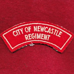 City of Newcastle Regiment Embroidered Shoulder Title