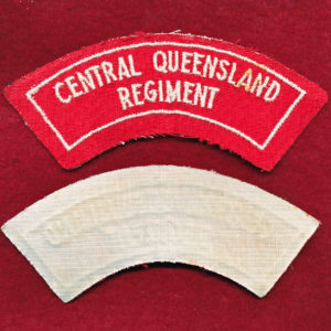 Central Queensland Regiment Shoulder Title (#2)