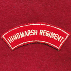 Hindmarsh Regiment Embroidered Shoulder Title (#1)