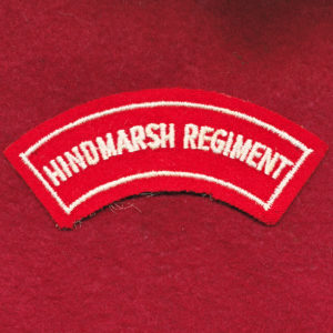 Hindmarsh Regiment Embroidered Shoulder Title (#2)