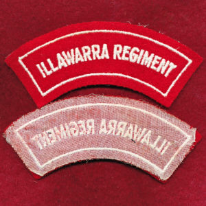Illawarra Regiment Embroidered Shoulder Title (#1)