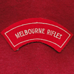 Melbourne Rifles Embroidered Shoulder Title