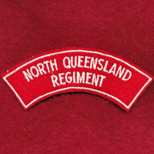 North Queensland Regiment Embroidered Shoulder Title