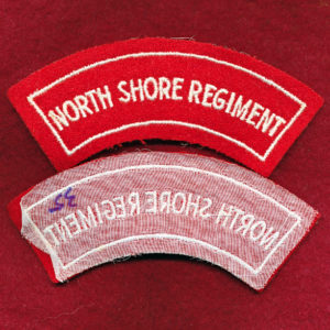 North Shore Regiment Embroidered Shoulder Title (#1)