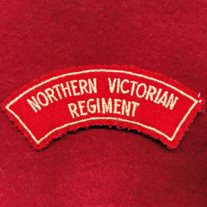 Northern Victorian Regt Embroidered Shoulder Title (#1)