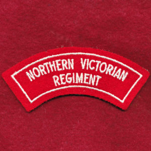 Northern Victorian Regt Embroidered Shoulder Title (#2)