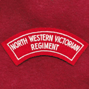North Western Victorian Regt Embroidered Shoulder Title