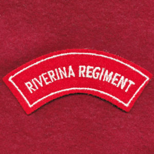 Riverina Regiment Embroidered Shoulder Title (#1)
