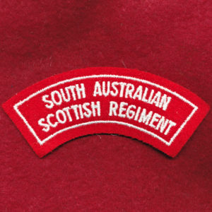 South Australian Scottish Regt Embroidered Shoulder Title