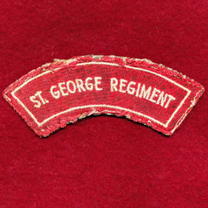 St. George Regiment Embroidered Shoulder Title (#2)