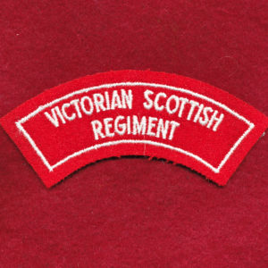 Victorian Scottish Regiment Embroidered Shoulder Title