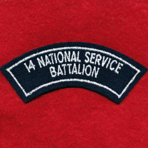 14 NS Bn Embroidered Shoulder Title (b)