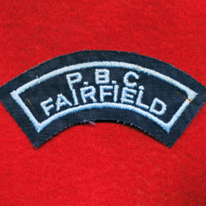 PBC FAIRFIELD bordered Shoulder Title