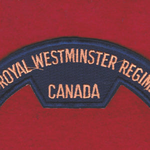 Canada - The Royal Westminster Regiment cloth title