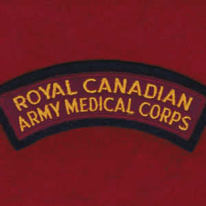 Canada - RCAMC cloth shoulder title