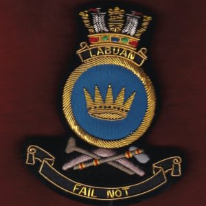 HMAS LABUAN Ship's crest patch
