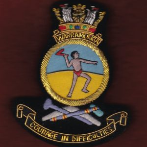HMAS WARRAMUNGA Ship's crest patch