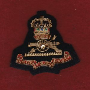 Bullion Beret Badge - RAA  (#1)