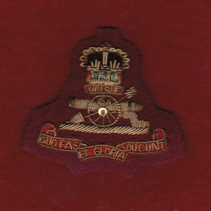 Bullion Beret Badge - RAA   (#2)