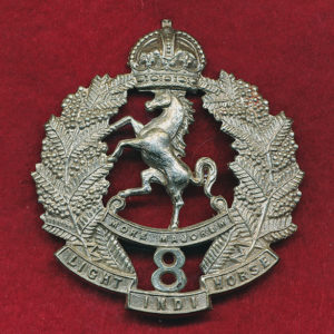 8 LHR (Indi Light Horse) Hat Badge (30/42)