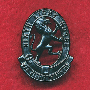 9 LHR (Flinders L.H.) Oxidised Collar Badge (w/R) (30/42)