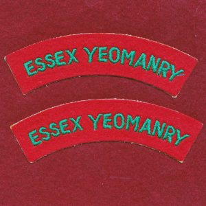 UK - ESSEX YEOMANRY Shoulder Titles (x2)