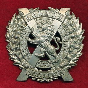 UK - London Scottish (14th Bn) Cap Badge (post 1908)