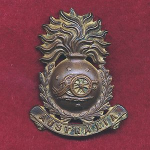 Collar Badge - Australian Field Artillery (Militia)  (00-12)