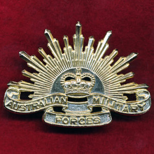 Hat Badge - G.S. Rising Sun (AMF) (A/A) (D/Tooling)