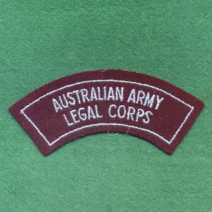 Shoulder title - Australian Army Legal Corps  (B)