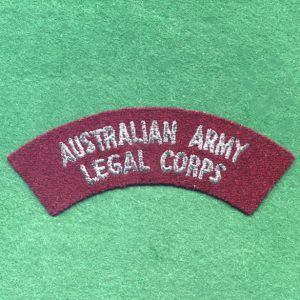Shoulder title - Australian Army Legal Corps (u/B)