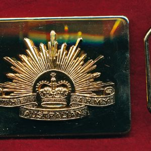 Ceremonial Belt Buckle with Rising Sun Badge