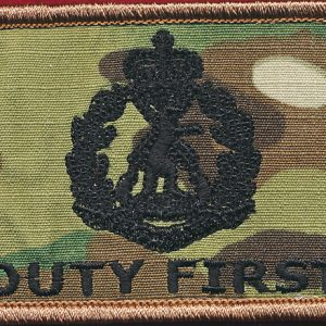 Afghanistan - DUTY FIRST Patch - RAR  (Multicam) (SOTG Crew)