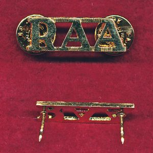 Shoulder Title - RAA  (x1)  (post 97)