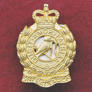 51st Battalion Collar Badge (w/R) (53/60)