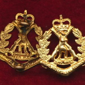 RAR Collar Badge - 2nd Pattern 53-64 era (w/R)