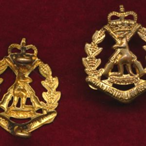 RAR Collar Badge - 2nd Pattern 53-64 era (w/L)