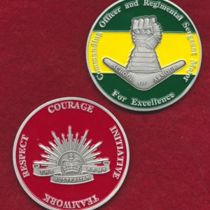 School of Armour CO & RSM Challenge Coin