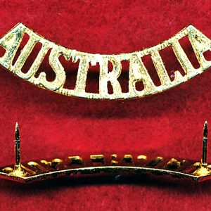 AUSTRALIA Shoulder Title (Gilt w/pins) (55mm)   :