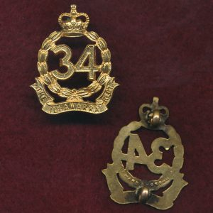 34 INF BN Collar Badge (S&H)