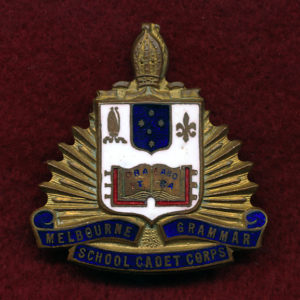 Melbourne Grammar School Cadet Corps Hat Badge