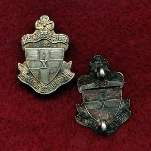Kings School Cadet Unit Collar Badge