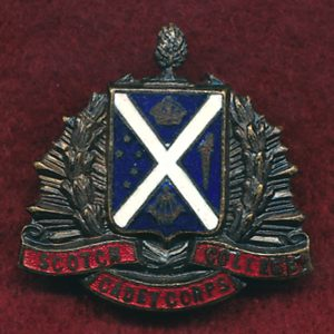 Scotch College Cadet Corps Collar Badge